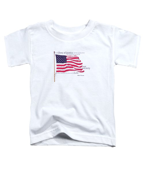 Law And Society American Flag With Robert Kennedy Quote Toddler T-Shirt