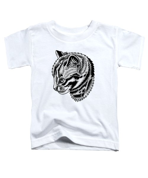 Leopard Cat Kitten - Ink Illustration Toddler T-Shirt