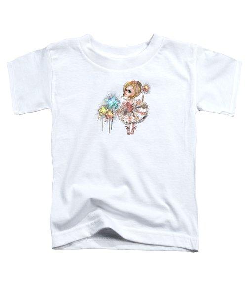 Little Ballerina With Magic Wands Toddler T-Shirt