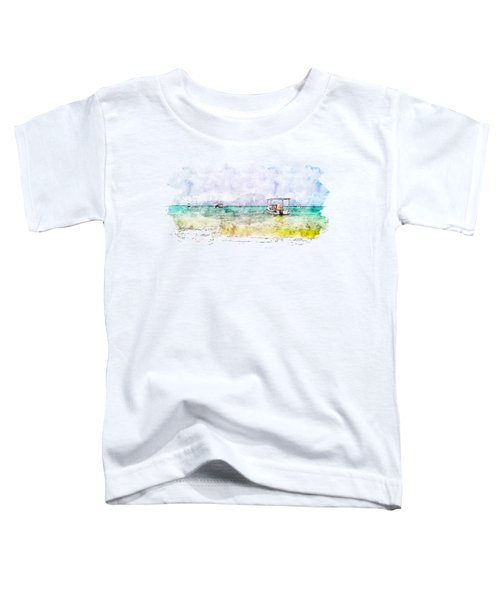 Local Fishermen Boats In The Beach Toddler T-Shirt