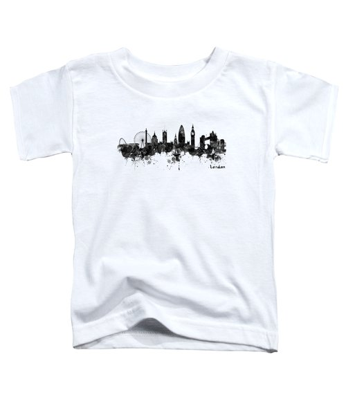 London Black And White Watercolor Skyline Silhouette Toddler T-Shirt