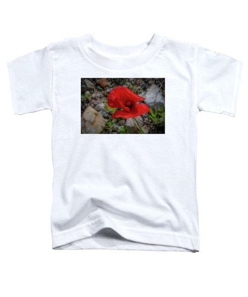 Lone Red Flower Toddler T-Shirt