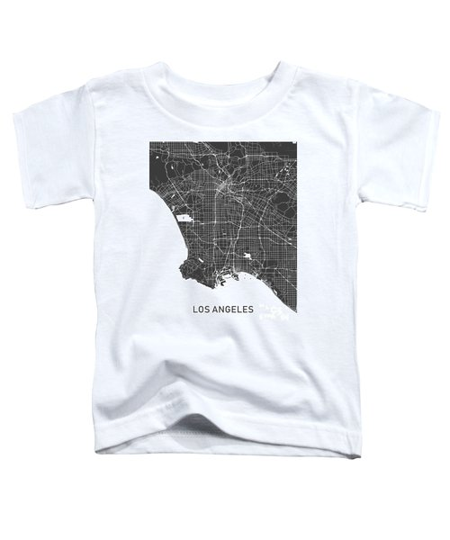 Los Angeles Map Black And White Toddler T-Shirt