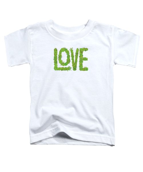 Love Succulent White Background Toddler T-Shirt