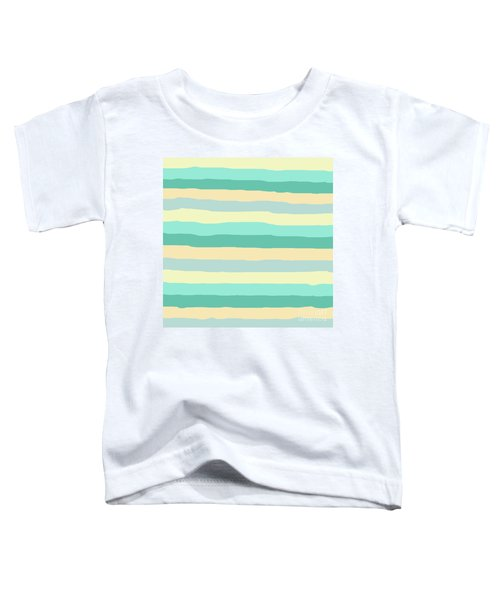 lumpy or bumpy lines abstract and summer colorful - QAB271 Toddler T-Shirt