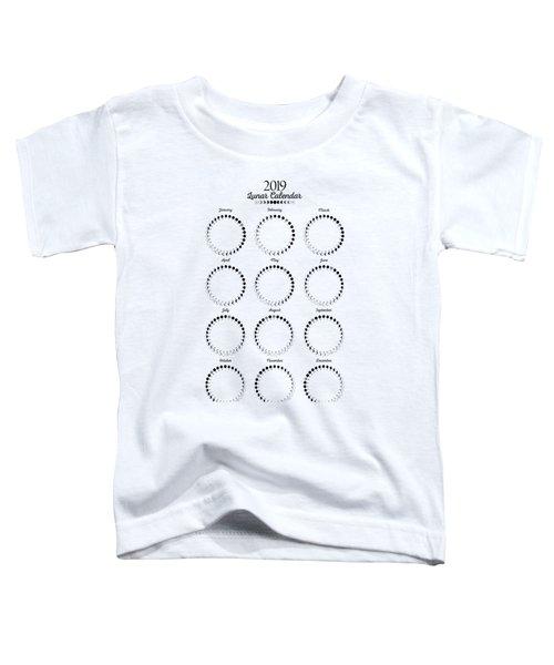 Lunar Calendar 2019 Toddler T-Shirt