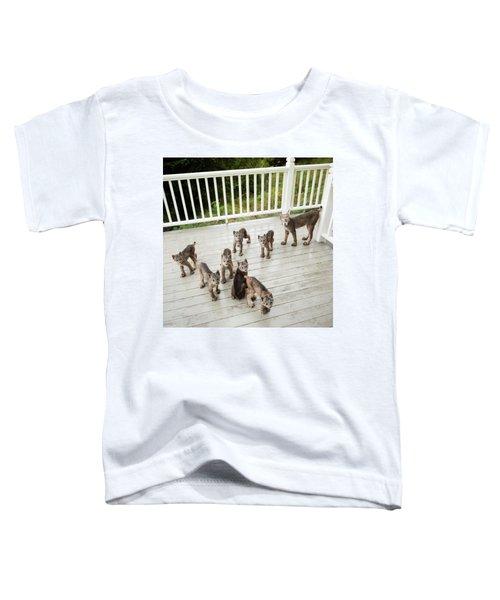 Lynx Family Portrait Toddler T-Shirt