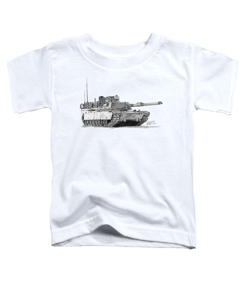 M1a1 Battalion Master Gunner Tank Toddler T-Shirt