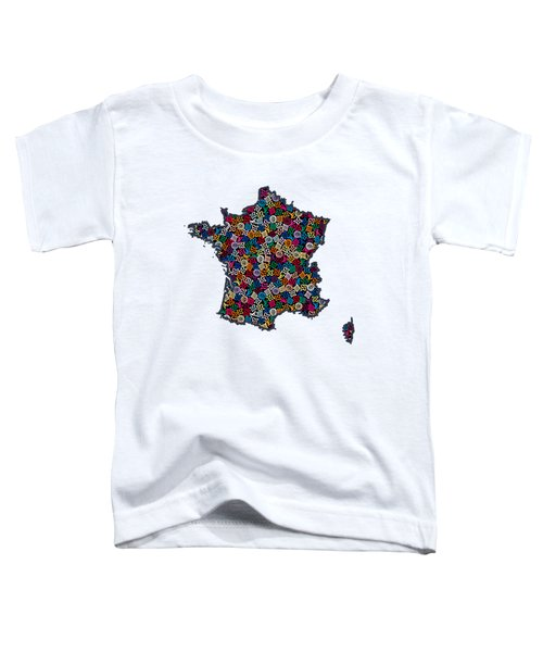 Map Of France-1 Toddler T-Shirt