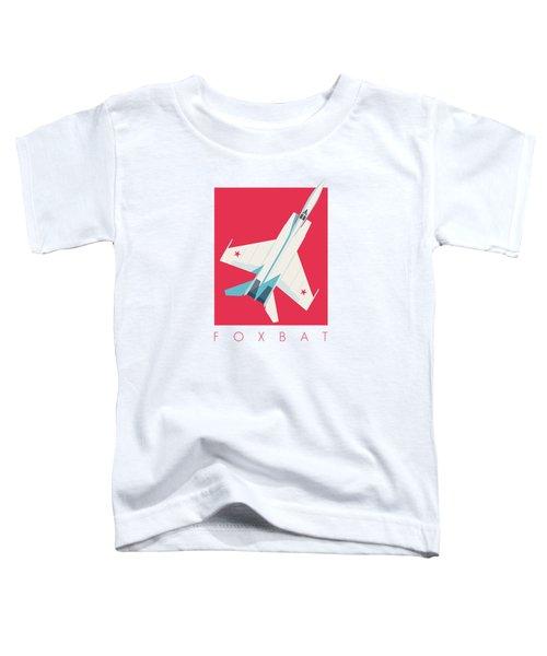 Mig-25 Foxbat Interceptor Jet Aircraft - Crimson Toddler T-Shirt