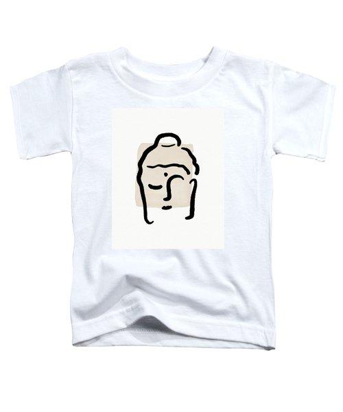 Minimal Buddha 4- Art By Linda Woods Toddler T-Shirt