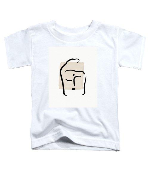 Minimal Buddha 6- Art By Linda Woods Toddler T-Shirt