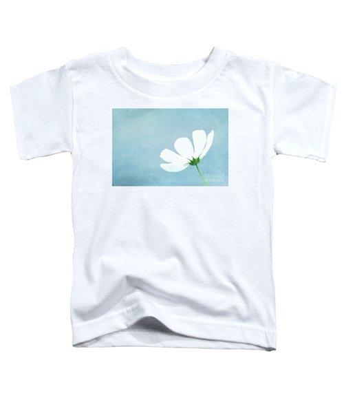 Minimalist White Cosmos Toddler T-Shirt