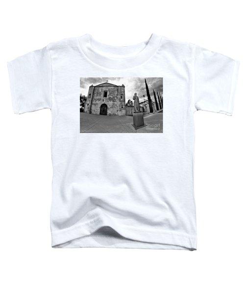 Mission San Gabriel San Gabriel Ca Black And White Toddler T-Shirt