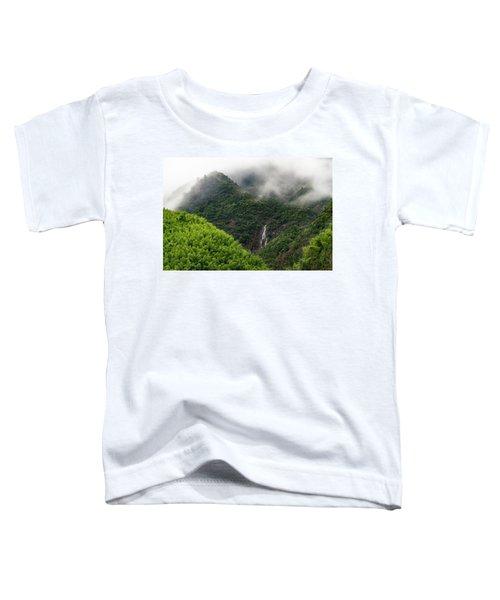 Misty Mountain Waterfall Toddler T-Shirt
