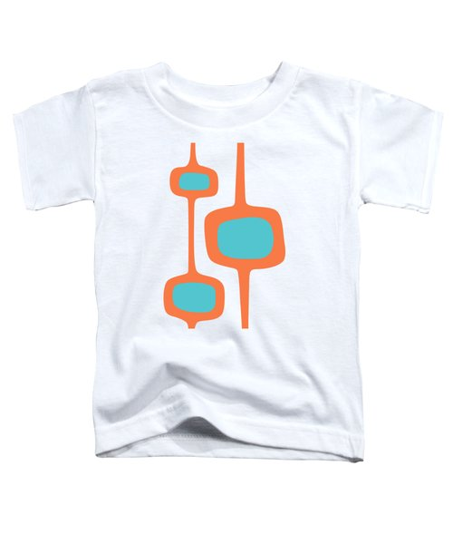 Mod Pod Three In Turquoise And Orange Toddler T-Shirt