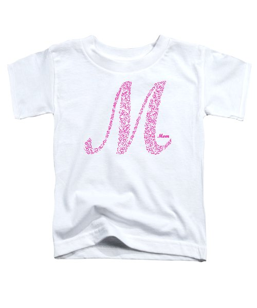 Mom Floral Pink White Toddler T-Shirt