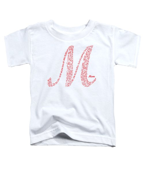 Mom Floral Red White Toddler T-Shirt