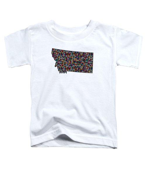 Montana Map - 1 Toddler T-Shirt