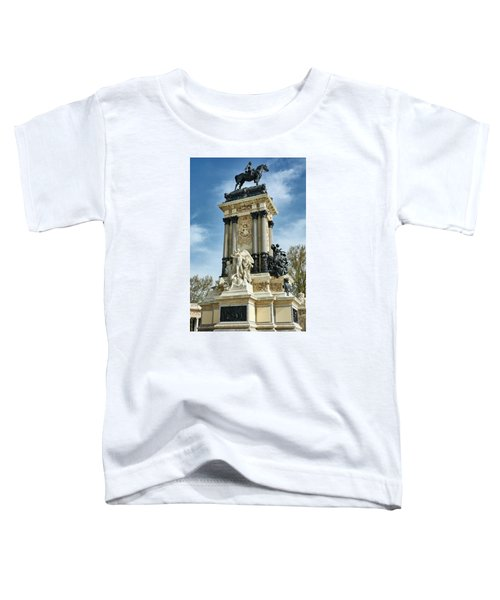 Monument To King Alfonso Xii At Retiro Park In Madrid, Spain Toddler T-Shirt