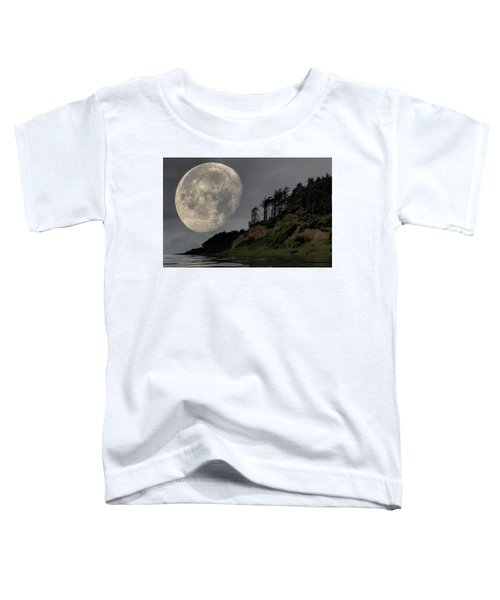 Moon And Beach Toddler T-Shirt
