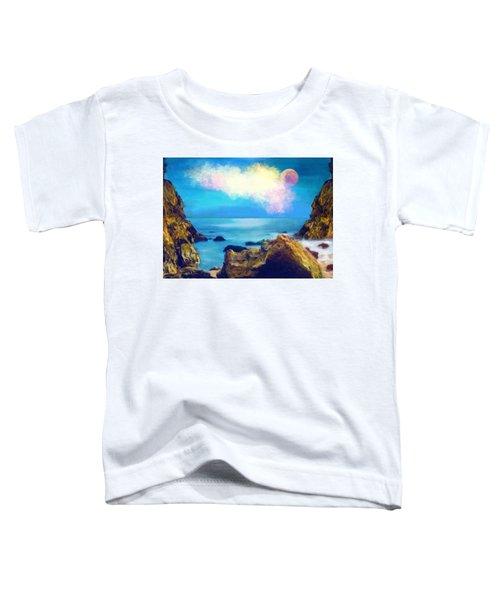 Moon And Sea Toddler T-Shirt
