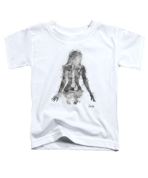 Music Was My First Love In Black And White Toddler T-Shirt