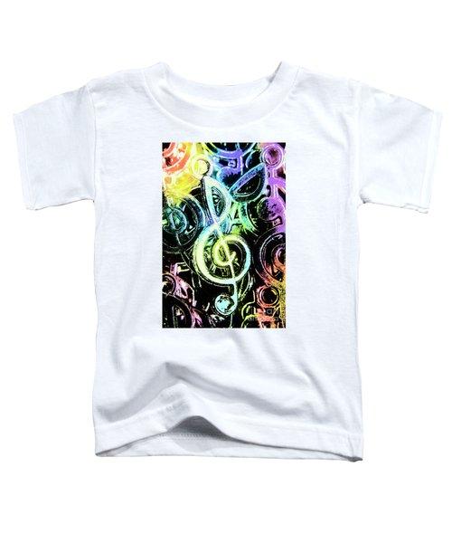 Neon Notes Toddler T-Shirt
