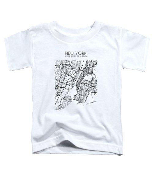 New York City Street Map Toddler T-Shirt