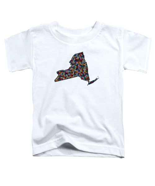 New York Map - 1 Toddler T-Shirt