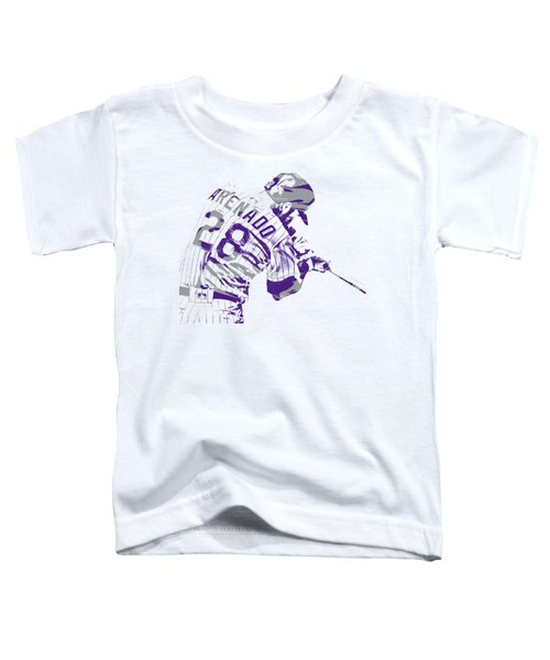 Nolan Arenado Colorado Rockies Pixel Art 1 Toddler T-Shirt