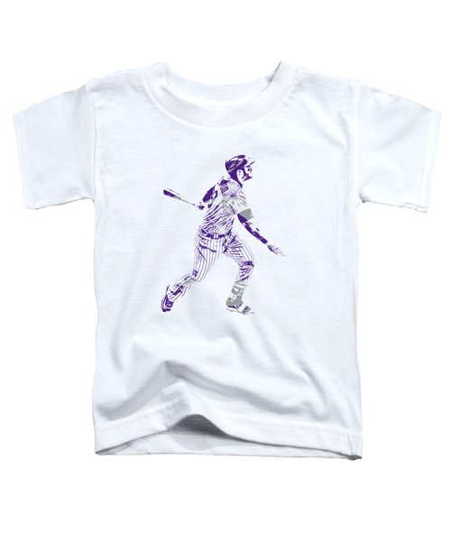 Nolan Arenado Colorado Rockies Pixel Art 5 Toddler T-Shirt