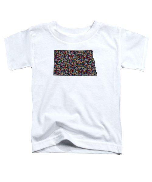 North Dakota Map - 1 Toddler T-Shirt