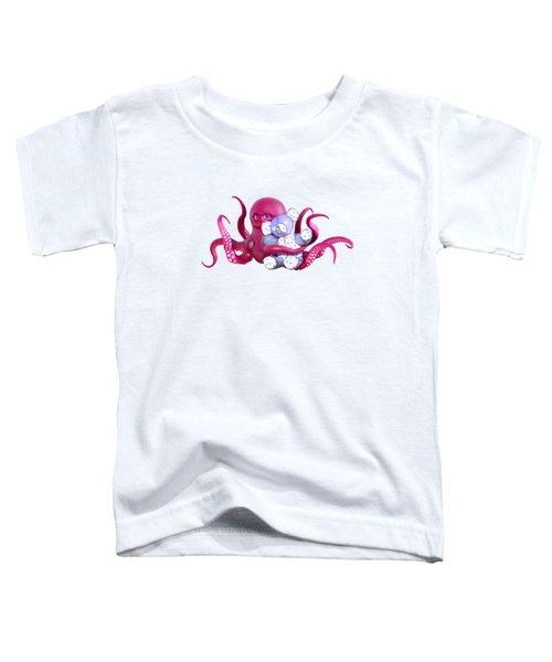 Octopus Pink With Bear Toddler T-Shirt