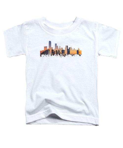 Okc Skyline Sunset Silhouette Toddler T-Shirt