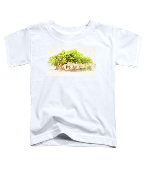 Old Leaning Tree At Sandy Hill  Anguilla Toddler T-Shirt