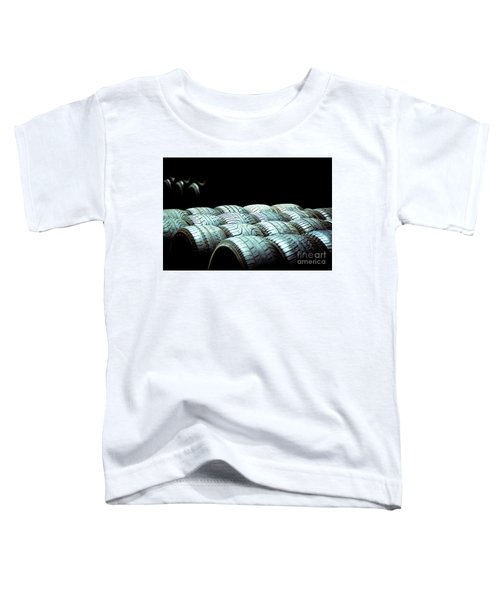 Old Tires And Racing Wheels Stacked In The Sun Toddler T-Shirt
