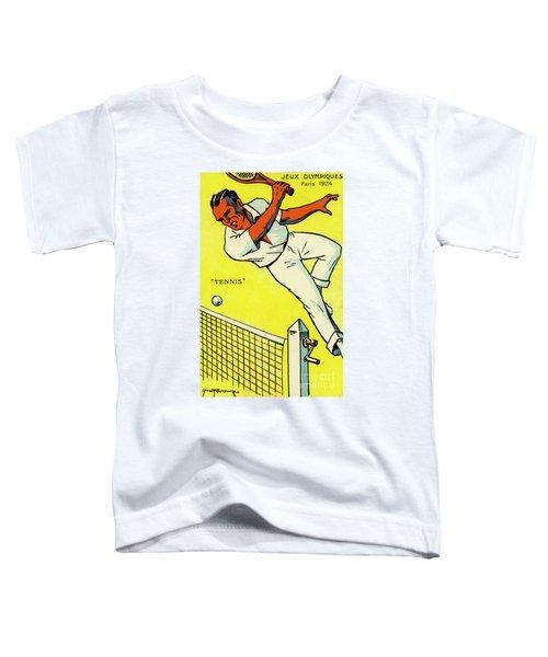 Olympics 1924 Paris France Tennis Championship Toddler T-Shirt