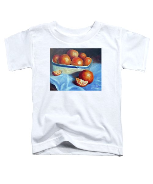 Oranges And Blue Toddler T-Shirt