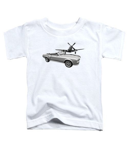 P51 Meets Eleanor In Black And White Toddler T-Shirt