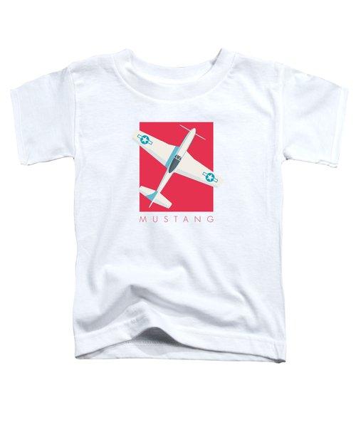 P51 Mustang Fighter Aircraft - Crimson Toddler T-Shirt