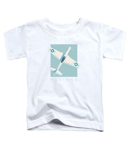 P51 Mustang Fighter Aircraft - Sky Toddler T-Shirt