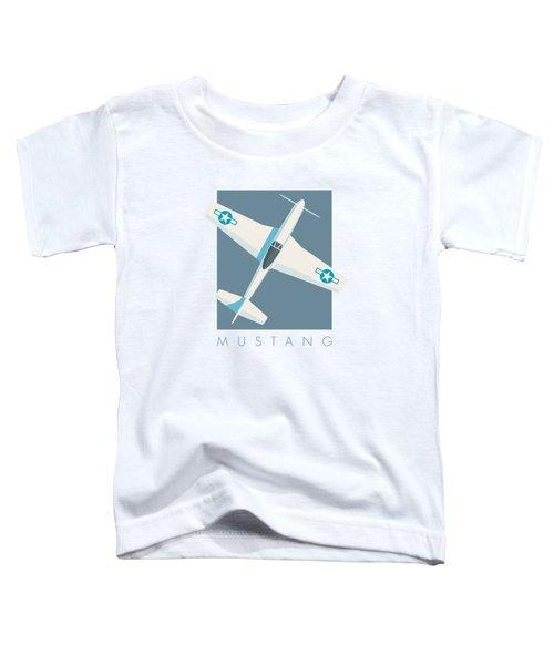 P51 Mustang Fighter Aircraft - Slate Toddler T-Shirt