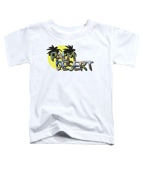 Palm Desert Large Letter With Moon Toddler T-Shirt
