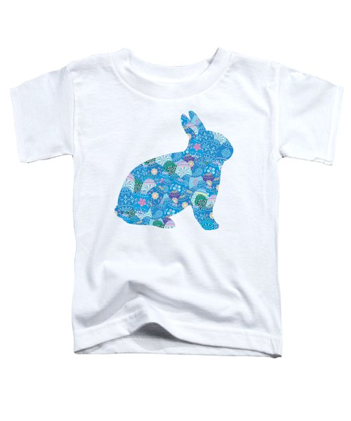 Patchwork Bunny Rabbit Toddler T-Shirt