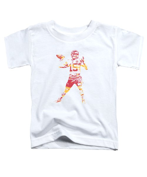 Patrick Mahomes Kansas City Chiefs Apparel T Shirt Pixel Art 1 Toddler T-Shirt