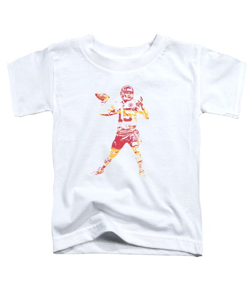 Patrick Mahomes Kansas City Chiefs Apparel T Shirt Pixel Art 1 Toddler T-Shirt
