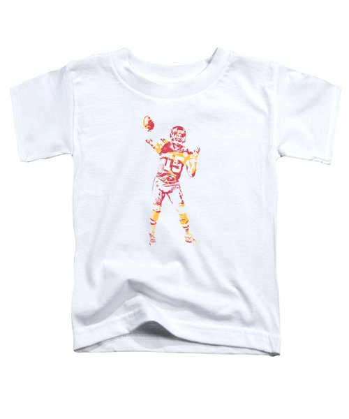 Patrick Mahomes Kansas City Chiefs Apparel T Shirt Pixel Art 2 Toddler T-Shirt