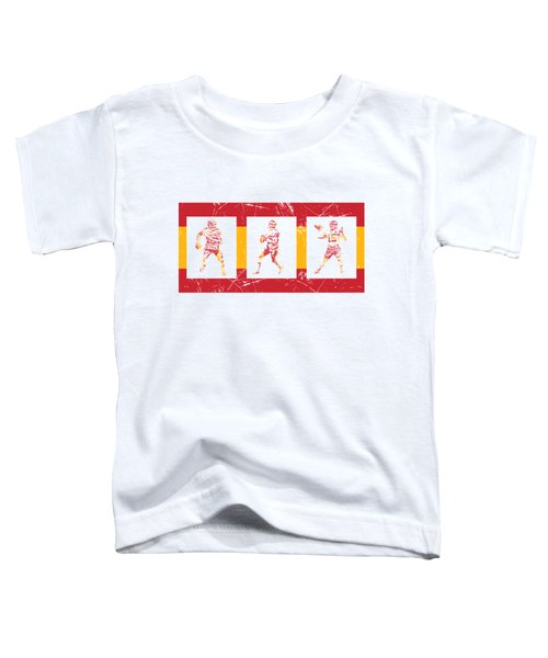 Patrick Mahomes Kansas City Chiefs Pixel Art T Shirt 10 Toddler T-Shirt