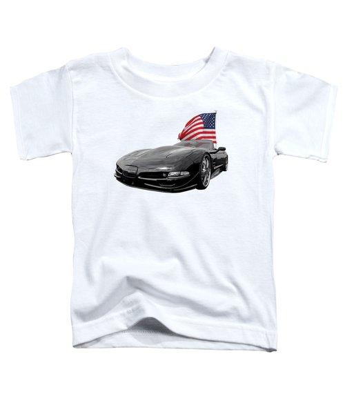 Patriotic Corvette C5 Toddler T-Shirt